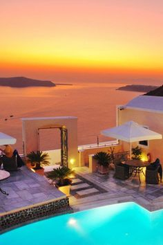 Golden Sunset over Fira, Santorini