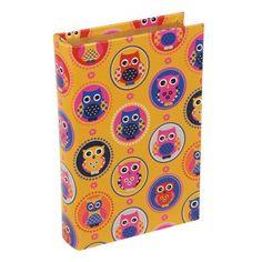 Trevisan ♥ Livro Caixa Coruja Repetida Amarela