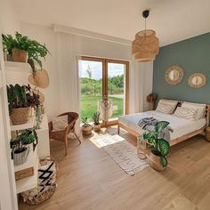 Room Design Bedroom, Room Ideas Bedroom, Home Decor Bedroom, Bed Room, Master Bedroom, Deco Bobo Chic, Aesthetic Room Decor, Dream Rooms, My New Room