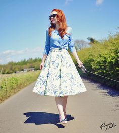 ASOS floral midi skirt worn by @Amber McNaught via @Already Pretty