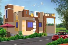 New single floor home design this beautiful home designed to be built in square feet this . new single floor home design Single Floor House Design, Bungalow House Design, House Front Design, Small House Design, Cool House Designs, Modern House Design, Beautiful Home Designs, Beautiful Homes, West Facing House