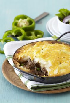 Shepherd's Pie is a great family meal. This dish is quick to prepare and is a great opportunity to add lots of vegetables for the kids. Don't forget to sprinkle with extra cheese before baking to get a golden crispy topping.