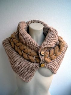 Trendy New Design Cowl Super Soft Wool Neckwarmer by NonnaLia, $79.00