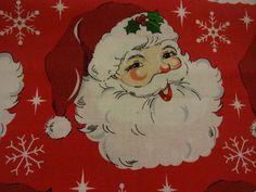 "Old-Fashioned ""JOLLY SANTA CLAUS"" Handmade Cotton Pillowcase Standard/Queen #Christmas"