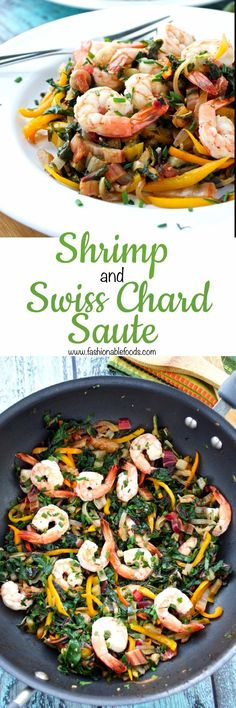 Shrimp and Swiss Chard Saute Pin