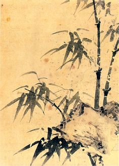 (Korea) Green Bamboo, 1765 by Poam Gang Se-hwang ink on paper. Korean Painting, Japanese Painting, Chinese Painting, Japanese Art, Korean Art, Asian Art, Ink Painting, Watercolor Paintings, Watercolour