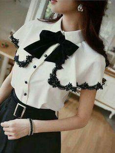 Black and white dress - Summer Dresses Mode Outfits, Fall Outfits, Chemise Fashion, Cute Fashion, Womens Fashion, Mode Inspiration, Mode Style, Lolita Fashion, Blouse Designs