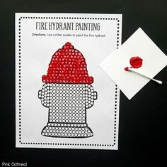 Preschool fine motor activities that go well with a fire safety or community helpers theme! Fire Safety Crafts, Fire Safety Week, Preschool Fire Safety, Fire Crafts, Community Helpers Crafts, Fire Prevention Week, Motor Activities, Space Activities, Preschool Activities