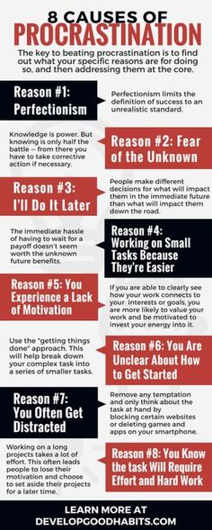 Top Ten Everyday Living Insurance Plan Misconceptions Why We Procrastinate Reasons For Procrastination 8 Causes Of Procrastination What Keeps Us From Getting Things Done, How To Fix It And Increase Productivity. Self Development, Personal Development, Leadership Development, Leadership Tips, Educational Leadership, Professional Development, Bulletins, Productivity Hacks, How To Increase Productivity