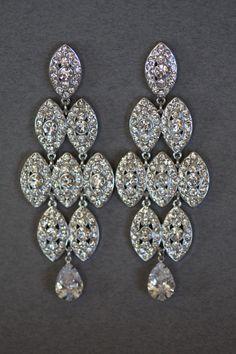 dc4a0ad711e Swarovski Crystal Earrings Bridal Chandelier by simplychic93 Swarovski  Crystal Earrings