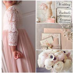 En delicados tonos rosa preciosas opciones para vestidos de niñas matrimonio!!  Más en www.dulcevictoria.cl