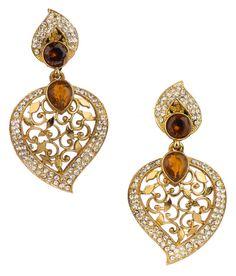 Indian Bollywood Fashion Women Wear Ethnic Designer Dangle Earrings Set #VGJewel #DropDangle