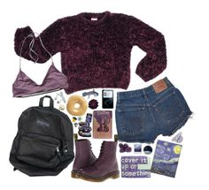 """To be happy somehow"" by taryn-ash ❤ liked on Polyvore featuring Dr. Martens, Patagonia, Dahlia, Polaroid and Universal Lighting and Decor"