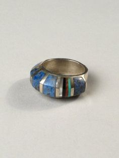 Sterling ring with blue lace agate