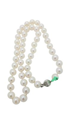14K White Gold  Classic strand – ct  Pearl   necklace-pendant