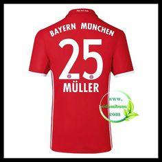 Fotballdrakter FC Bayern München MULLER #25 Hjemmedraktsett 2016-2017
