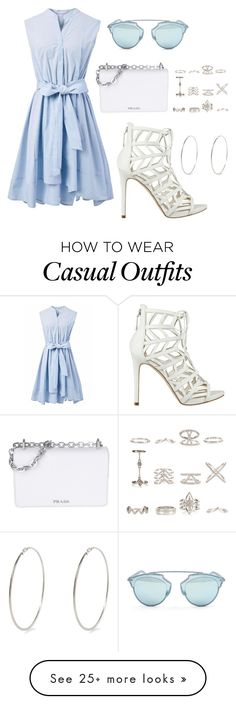 """""""Casual Summer"""" by jamelialoves on Polyvore featuring Chicwish, GUESS, Christian Dior, River Island, Prada and New Look LOVE THE SHOES"""