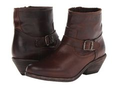 Frye Lana Ankle Strap Boot Tan Antique Pull Up - 6pm.com