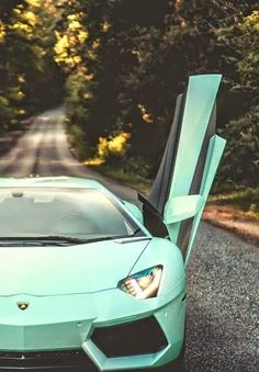 Sophisticated & Stylish the mint green #Lamborghini!   Did you like the colour of the #car?