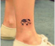 Little indian elephant tattoo...sooo cute!
