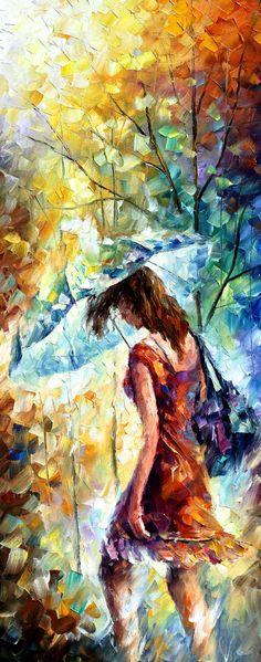 Triptyque Art mural 3 panneau de peinture sur toile par Leonid