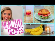 Healthy Food Ideas! Breakfast Lunch and Snacks | Fitness - YouTube