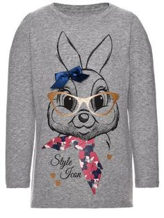 #NAME IT Kinder Shirt ´NITTHUMPER TORI LS TOP MINI´, Gr. 104, , 05713447060722 Mode Online, Sweatshirts, Mini, Tops, Sweaters, Fashion, Templates, Kangaroos, Cotton