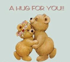 A sweet hug for you Hugs And Kisses Quotes, Hug Quotes, Kissing Quotes, Snoopy Quotes, Teddy Bear Quotes, Teddy Bear Hug, Cute Teddy Bears, Need A Hug, Love Hug