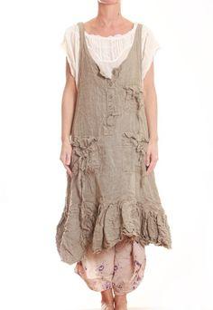 HEIDELzwerg • MAGNOLIA PEARL Homespun Linen Hannabelle Apron Dress 267 • Weiblichkeit ist anziehend!
