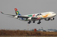 "South African Airways Airbus A340-313 in the ""London 2012 Olympics"" livery"