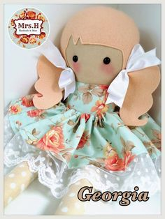 """19"""" doll with removable skirtSuitable from birthHand wash only"""