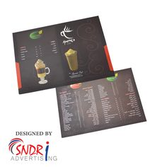Menu Card Designing and Printing Solutions  we are advertising agency in jeddah , we are unique Designs for Menu Card for hotels, Restaurant, cafe, Coffee shops etc.  visit us : www.SndriAd.com Menu Card Design, Graphic Design Services, Advertising Agency, Menu Cards, Logo Nasa, Booklet, Banner, Jeddah, Coffee Shops