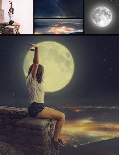 In this Tutorial, Learn How To Change a Photo Background Perfectly Photo manipulation in Photoshop. This Photo Manipulation tutorial you'll learn how to create easily moon scene in night effect. Photoshop For Photographers, Photoshop Photos, Photoshop Design, Photoshop Photography, Photoshop Tutorial, Photoshop Actions, Creative Photoshop, Creative Photography, Adobe Photoshop