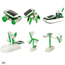 6 in 1 solar diy educational kit toy boat fan car robot fit children kids zdj