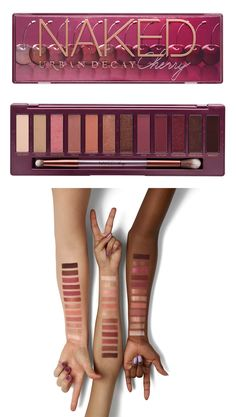 Urban Decay NAKED Cherry Eyeshadow Palette - The Swatches for Urban Decay's Naked Cherry Palette Are Drop-Dead Gorgeous Maybelline Makeup, Eyeshadow Makeup, Eyeshadow Palette, Drugstore Makeup, Face Makeup, Eye Makeup Designs, Makeup Ideas, Makeup Tutorials, Urban Decay Electric Palette