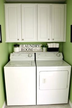 Before our house renovation, our laundry room was pretty ho-hum.  Builder's paint, and a lonely shelf above the washer and dryer. We decided…