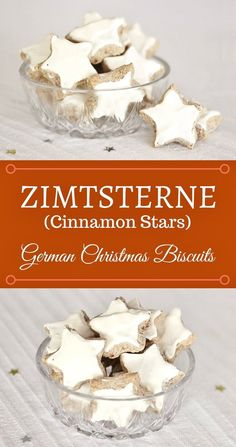 Zimtsterne (Cinnamon Stars) are traditional German Christmas biscuits. Many German home cooks bake them during Advent. This year I made my own Zimtsterne. German Christmas Biscuits, German Biscuits, German Christmas Traditions, German Christmas Cookies, German Cookies, Holiday Cookies, Christmas Cooking, Christmas Desserts, Christmas Treats