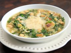 Chickpea and Potato Soup Recipe : Rachael Ray : Food Network Chickpea Soup, Chickpea Recipes, Vegetarian Recipes, Cooking Recipes, Protein Recipes, Diabetic Recipes, Healthy Recipes, Beetroot Soup, Look And Cook