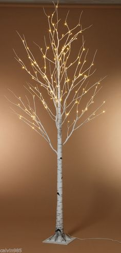 Lot of 2 - 8'  Lighted Birch Trees   Winter Wonderland Wedding Decoration Venue
