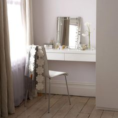 Make Up Vanities Bedroom | Sometimes a floating shelf just does the trick. Pretty. Image via ...