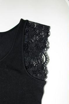 79f4eee919d DIY mode - Customiser un tee-shirt avec de la dentelle