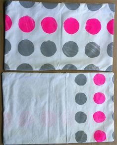 Neon Pink Circles Cushion
