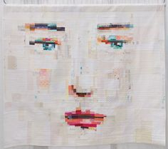 face quilt. Face #1 by Janine Vangool (Judge's Choice) Photo from themodernquiltguild.wordpress.com