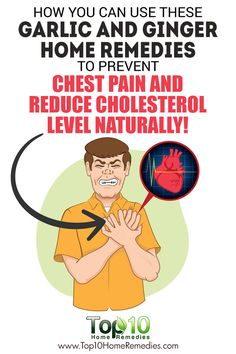 How You Can Use These Garlic and Ginger Home Remedies to Prevent Chest Pain and Reduce Cholesterol Level Naturally!
