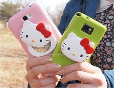 Featuring a Hello Kitty character with a hand mirror, Galaxy Note 3Kitty Mirror Cute Korean Jelly Smartphone Case is the cutest protection for your device..Available in 9 different colors (mint, yellow, sky blue, hot pink, sweet pink, black, green, brown, white).