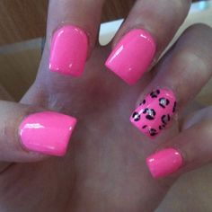 acrylic nails tumblr pink
