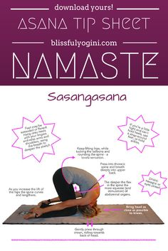 Read all about it and download your free asana tip sheet: http://www.blissfulyogini.com/?p=2742 ❤️ ~ aloha & namaste, blissfulyogini.com #yoga #asanatipsheet #blissfulyogini