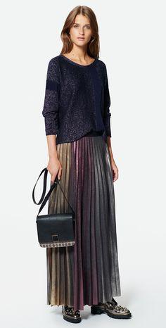 MAX&Co. SS 2016 - Sweater PIOGGIA / Skirt PORTOFIN / Cross-Body Bag ABISSO / Shoes AFELIO