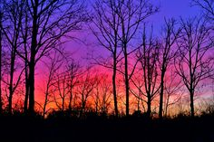 A sweet winter sunset I took at 5:30pm in the Poconos, P.A.   #sunset #photography #powefulcolors #mariselrodphotography