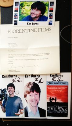 Ken Burns, creator of such PBS documentaries as The Civil War, Baseball and Prohibition. TTM